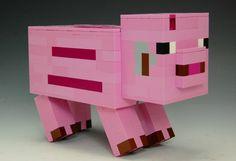 Lego Minecraft Pig by BrickBum on Lego Ideas. Vote for the Pig! Minecraft Creations, Lego Minecraft, Lego Ideas, Jenga, Toys, Activity Toys, Clearance Toys, Gaming, Games