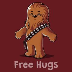 Who wouldn't want to hug it out with this fuzzball? Get the official red Star Wars Chewbacca t-shirt only at TeeTurtle! Chewbacca, Ewok, Star Wars Quotes, Star Wars Humor, Star Wars Karikatur, Tableau Star Wars, Star Wars Cartoon, Arte Hip Hop, Star Wars Wallpaper