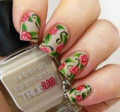 Spring Scene -This beauty really puts the art in nail art! The spring scene is absolutely gorgeous;