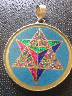 "MerKaBa Turquoise Gemstone Necklace 1.5"" Pendant Sterling Silver Mystical Gift    eBay"