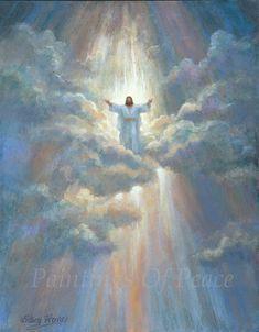 Paintings Of Christ, Jesus Christ Painting, Catholic Pictures, Pictures Of Jesus Christ, Jesus Pics, Images Of Christ, Ascension Of Jesus, Jesus Drawings, Art Drawings