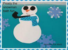 Momma's Fun World: Frosty the snowman Christmas Bath Fun