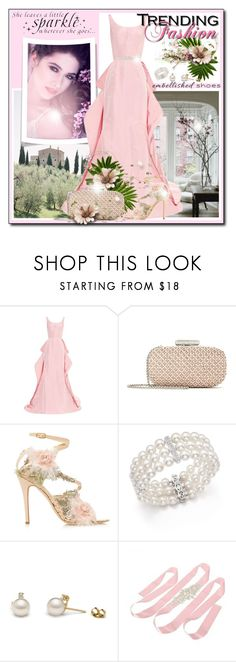"""""""Magic Slippers: Embellishd Shoes"""" by eula-eldridge-tolliver ❤ liked on Polyvore featuring Oscar de la Renta, Marchesa, WALL and Bloomingdale's"""