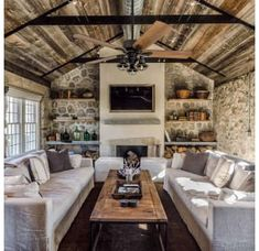 Prominence Home Aged Bronze Sivan 5 Blade Indoor Ceiling Fan with Light Kit Included – Family Room İdeas 2020 Tiny House Living, Home Living Room, Small Living, Cottage House, Mediterranean Decor, Luxury Mediterranean Homes, Tiny House Movement, Family Room Design, Cabana