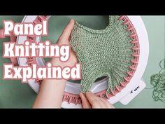 (5) How To Knit A Flat Panel On The Sentro Circular Knitting Machine - YouTube Addi Knitting Machine, Knitting Machine Patterns, Circular Knitting Machine, Crochet Machine, Round Loom Knitting, Loom Knitting Projects, Knitting Stiches, Yarn Projects, Loom Crochet