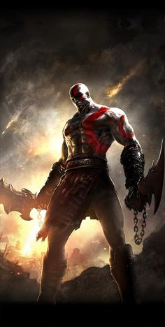 If you believed that God of War III put a cap on the tale of Kratos, think once again. Sony will keep on building the franchise with God of War: Ghost of Sparta. Kratos God Of War, Video Game Art, Video Games, Digital Art Illustration, King's Quest, Clash Of Clan, Playstation Portable, Playstation Games, Video Game Characters