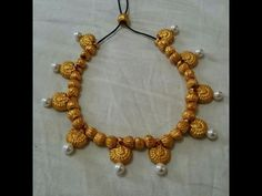 How to make terracotta lakshmi necklace: terracotta /clay jewellery making tutorial - YouTube