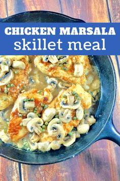 Break our your favorite skillet and make a big batch of marsala chicken! This Chicken Marsala recipe is a keeper and one of our all-time favorite chicken recipes, too. Chicken Marsala made easy! Best Chicken Dishes, Easy Chicken Recipes, Meal Recipes, Cooking Recipes, Cast Iron Chicken, Marsala Recipe, American Dishes, Restaurant Dishes, Chicken Marsala
