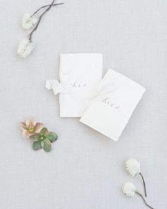Elegant vow books tied up with string ... err ribbon! For a beautiful couple this Spring. -- Photo | @hannah.forsberg  Styling | @rachelslauerweddings  Floral | @sheanstrong  Calligraphy | @shastabellcalligraphy  Catering | @thedesserttableatl