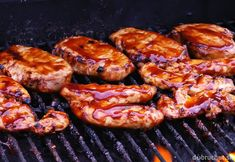 Photo about BBQ Chicken Cooking on Grill. Image of pork, food, fire - 12030110 Grilled Bbq Chicken, Tandoori Chicken, Grill Time, Baked Beans, Recipe Images, What To Cook, How To Cook Chicken, Grilling Recipes, Pesto