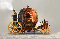 steampunk+vehicles | Sketch of a steampunk Medusa by Florian Beige.