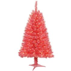 holiday time pre lit 4 indiana spruce artificial christmas tree pink clear lights - Walmart Christmas Trees Pre Lit