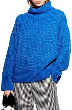 4af697608ca Topshop Weave Stitch Roll Neck Sweater