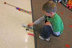 Comparaison de différents objets pour travailler l'ordre croissant et décroissant selon la longueur.