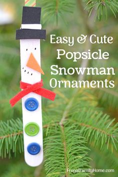 Homemade Snowman Ornaments for the kids to make. These cute diy snowman ornaments are a great Christmas project fo the kids to help with. Ours turned out great and they were so easy too.