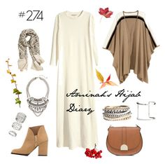 """""""#274 Winter White"""" by aminahs-hijab-diary ❤ liked on Polyvore featuring H&M and Zara"""