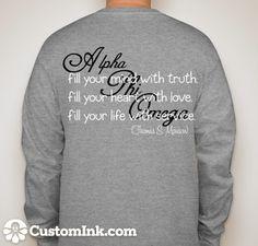 Back Long-Sleeve Alpha Phi Omega [APO] shirt