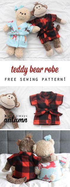Free pattern: Robe for a teddy bear or stuffed animal