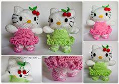 Papillon en papier: Hello Kitty! crochet ami + link to free pattern
