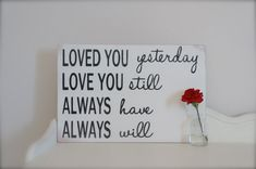 Perfect for your Valentine! Love Quote Wall Art Sign by InMind4U