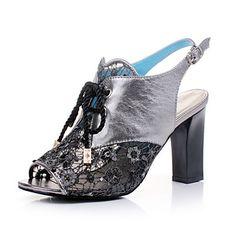 poemline élégant peep-toe scandales chaussures hs1021 gris - EUR € 11.17