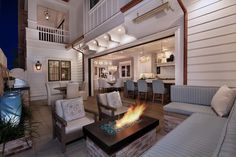 Beautiful evening to sit by the fire and relax after a long day.   builder @pattersoncustomhomes photo @jkoegel