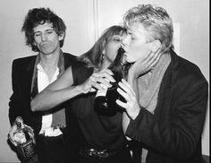 Keith Richards, David Bowie, Tina Turner