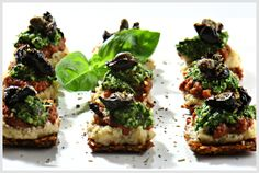 Mini Flax Pizza Bites from Russell James the Raw Chef  My family loves these little bites
