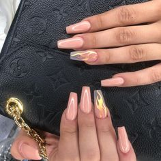 Coffin nails is one of the most popular types of nails among nail lovers. Its po… - Nails Aycrlic Nails, Swag Nails, Coffin Nails, Best Acrylic Nails, Summer Acrylic Nails, Acrylic Nail Designs Coffin, Spring Nail Art, Spring Nails, Autumn Nails