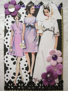 Black and White ATC with a Touch of Purple Card Patterns, Vintage Patterns, Vintage Ideas, Pattern Ideas, Sewing Patterns, Vintage Crafts, Vintage Sewing, Reset Girl, Art Trading Cards