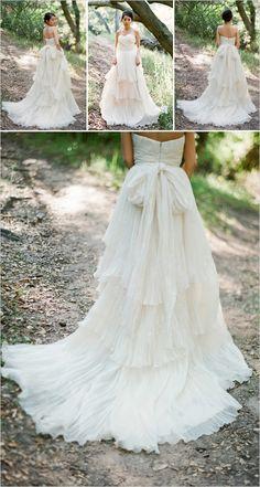 flowy wedding dress by Boho