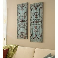 Adelaide Wall Plaque, Set of 2