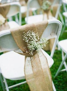 22 Rustic Backyard Wedding Decoration Ideas On A Budget . 22 Rustic Backyard Wedding Decoration Ideas On A Budget Always wanted to discover ways to knit,. Backyard Wedding Decorations, Wedding Backyard, Chair Decoration Wedding, Wedding Decor On A Budget, Indoor Wedding, Wedding Ideas With Burlap, Ceremony Decorations, Cheap Wedding Ideas, Outdoor Wedding Chairs