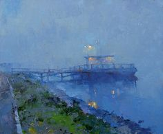 Sleeping quay. 60 x 50 cm, oil on canvas. Alex Zaitsev, 2014.