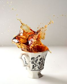 I guess you can't really call this a still life. Splash!