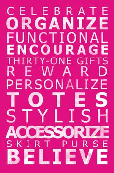 What Thirty-One can do for you!!!