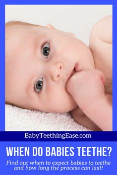 """(""""Ow! Was that just a bite?"""") When your baby's first tooth shows up, you might be taken by surprise. Here is a detailed guide to the question """"When do Babies Teethe?"""""""