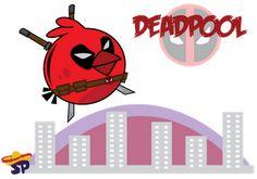 Deadpool Superheroes estilo Angry Birds