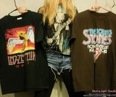 Mystery Summer Outfit - Band Tee & High Waisted Distressed Shorts! All Sizes!!