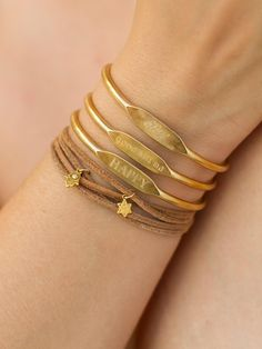 Faith Brass Cuff Bracelet