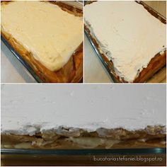 "Bucataria Stefaniei: Tort ""Ecler"" cu mascarpone si vanilie Mai, Vanilla Cake, Deserts, Mascarpone, Desserts, Postres, Dessert, Plated Desserts"