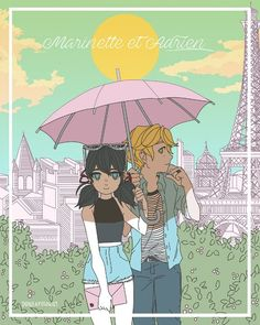 Marinette and Adrien (Miraculous Ladybug, Adrinette, date)