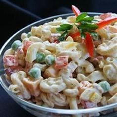 """Bacon Ranch Macaroni Salad 