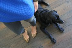 Cobalt Chinti and Parker aran sweater, Goldsign Glam jean, Loeffler Randall Tamsin heel - dianiliving.com