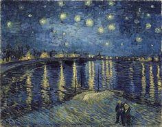 """""""The Starry Night over the Rhone (La nuit étoilée)"""" (Arles. September 1888)  By Vincent van Gogh (Dutch, 1853-1890) © Musée d'Orsay, Paris"""