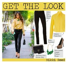 """""""Get The Look : Nikki Reed"""" by saraishi ❤ liked on Polyvore featuring Calvin Klein, Kerr®, Delpozo, Tory Burch and Yves Saint Laurent"""