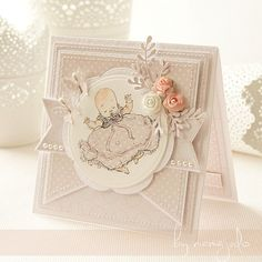 Baby Crafts, Diy And Crafts, Baby Shower, New Baby Cards, Square Card, Cute Cards, Projects For Kids, Christening, Invitation Cards