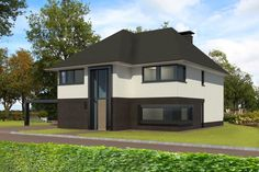 In ontwikkeling 28 - Bekhuis & KleinJan Contemporary Architecture, Sims 4, Shed, New Homes, Art Deco, Exterior, Outdoor Structures, House Design, Decoration