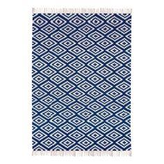 tapis bleu | ... > Décoration > Tapis > Tapis en coton Apache Bleu marine - Rouge