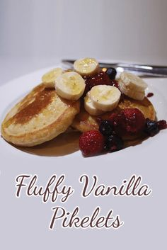 One of our favourite things about the weekend is that we make fluffy pikelets as a family. It's a regular Sunday morning treat and we all love them. French Toast, Vanilla, Healthy Recipes, Breakfast, Food, Thermomix, Breakfast Cafe, Essen, Healthy Eating Recipes